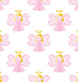 Cute angel seamless pattern vector image