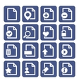 File Management Icons Set vector image
