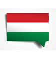 hungary paper 3d realistic speech bubble on white vector image