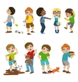Mean Children vector image