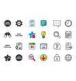 Most popular star icon most watched symbol vector image