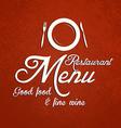 restaurant menu 2 vector image
