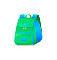 school bag isolated on white background vector image