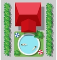 top view of a country vector image