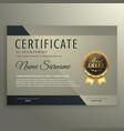 vip premium certificate design template vector image
