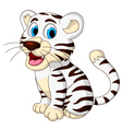 cute baby white tiger posing vector image