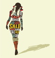 Shopping woman silhouette vector image vector image