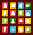 set with collection of men clothing vector image