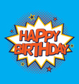 Comic strip birthday card vector image