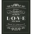 Happy mothers day typography design on blackboard vector image vector image
