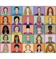 twenty five adult woman vector image