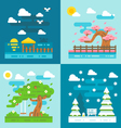 Flat design romantic dating places vector image