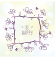 frame and flowers vector image