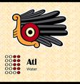 Aztec symbol Atl vector image vector image
