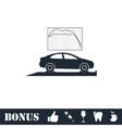 Car diagnostics icon flat vector image