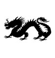 chinese dragon silhouette symbol traditional china vector image