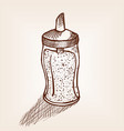 glass sugar shaker isolated hand drawn sketch vector image