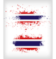 Grunge Thai ink splattered flag vector image