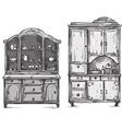 Kitchen cupboards vector image