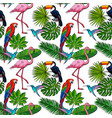 Seamless pattern backdrop design of tropical palm vector image