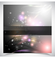 Smooth colorful abstract glowing background vector image