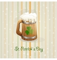 St Patricks Day background with a mug vector image