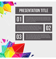 Template for Your business presentation Geometric vector image