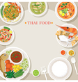 Thai Food and Cuisine Frame vector image