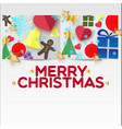 x-mas greeting paper vector image