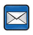 envelope mail application icon vector image