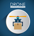 Drone design over white background vector image