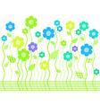 elegant bright flower border vector image vector image