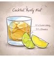 Rusty Nail Cocktail vector image
