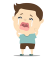 baby boy crying vector image