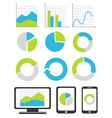 Business chart and graph icons vector image