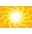 Retro sun with rays pop art vector image vector image