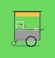 flat thai street food vending cart vector image
