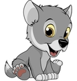 Funny baby wolf vector image