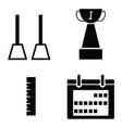 gym icon set vector image
