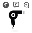 hairdryer icon set in black vector image