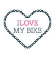 Love bike card vector image