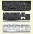 realistic keyboard vector image
