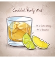 Rusty Nail Cocktail vector image