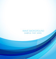 clean blue wave vector image