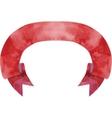 Watercolor dark-red banner vector image