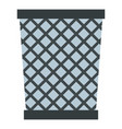 wire metal bin icon isolated vector image