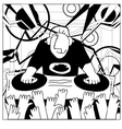 Cartoon funny DJ vector image