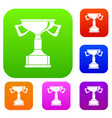 cup for victory set collection vector image