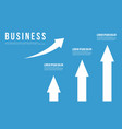 growth arrow business infographic design vector image