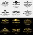 Royal Shield Logos and Badges Set 3 vector image
